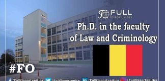 Ph.D. in the faculty of Law and Criminology
