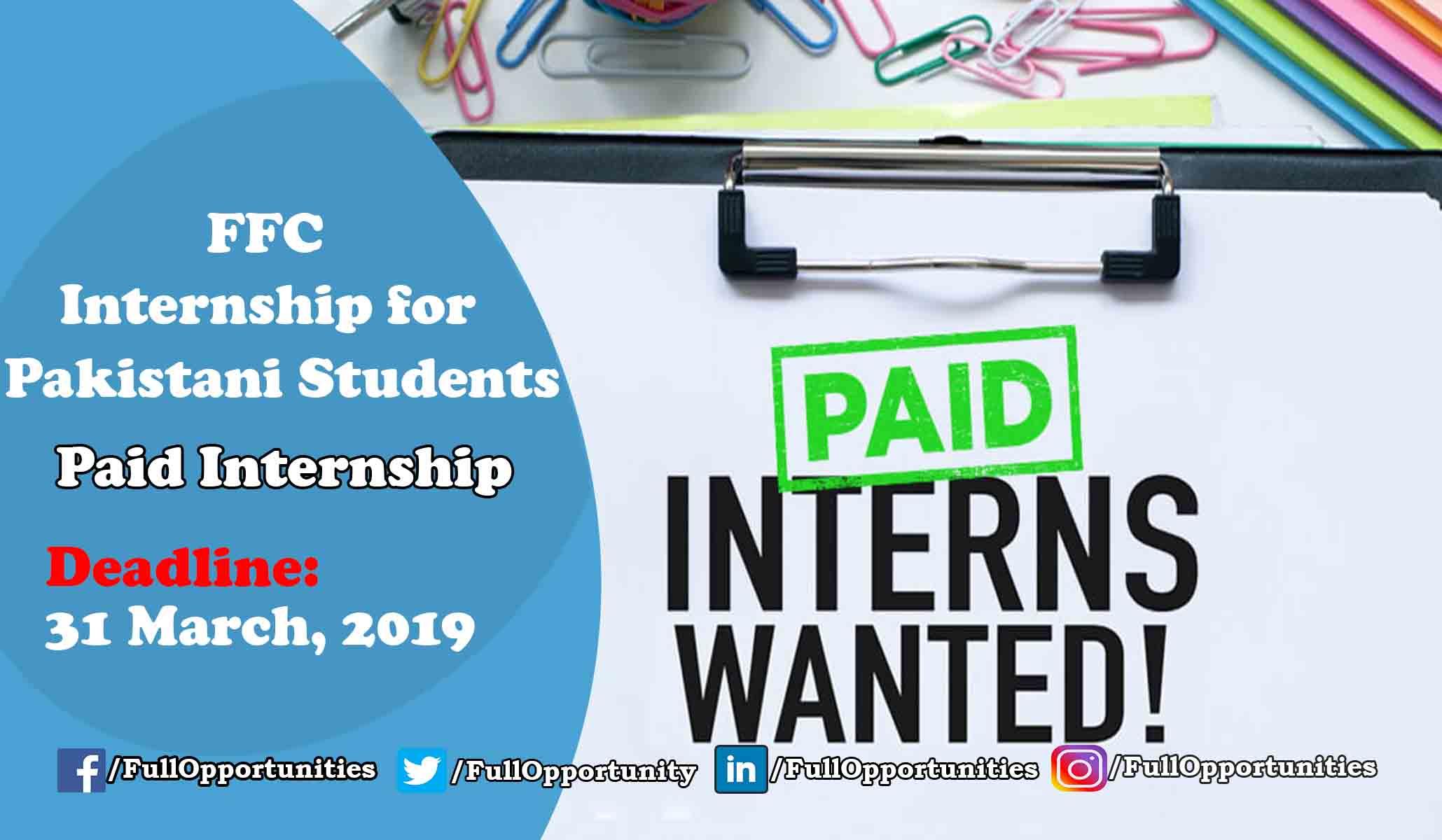 FFC Internship For Pakistani Students - Paid Internship 2019