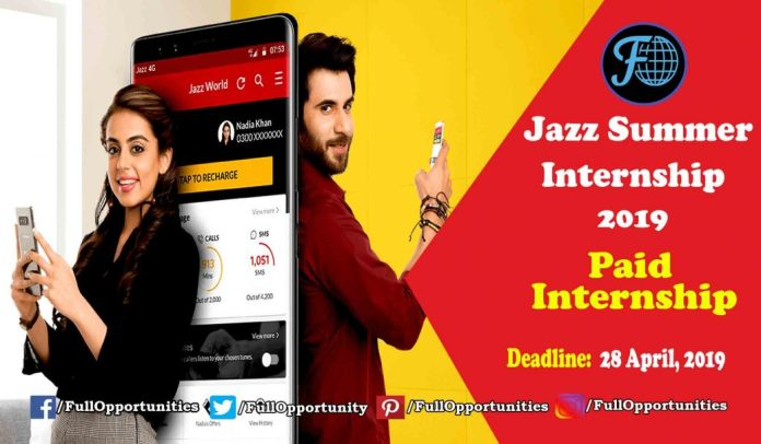 Jazz Summer Internship Program Paid Internship