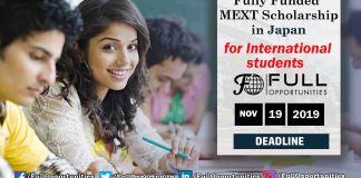 MEXT Scholarship Japan 2020