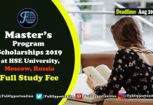 Master's Program Scholarships Moscow