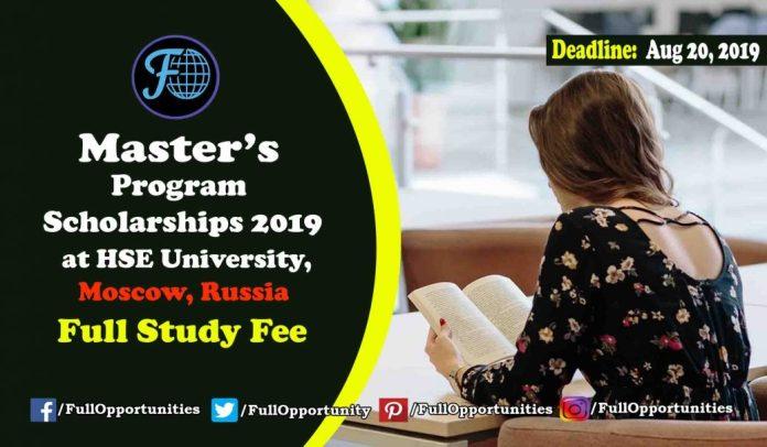 Master's Program Scholarships Moscow