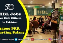 HBL Jobs for Cash Officers in Pakistan