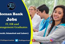 Meezan Bank Jobs 2019