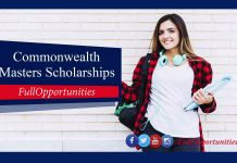 Commonwealth Master's Scholarships 2020 in UK (Fully Funded)