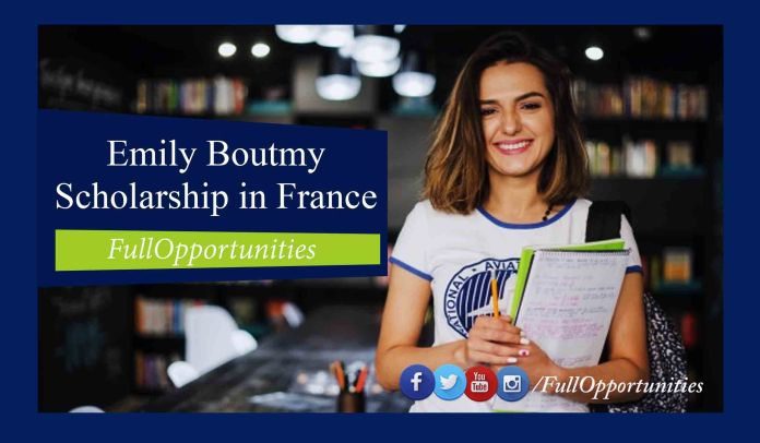 Emily Boutmy Scholarship in France