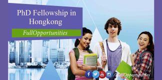 PhD Fellowship in HongKong 2020 For International Students