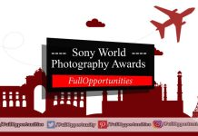 Sony World Photography Awards 2020 - Total Prize USD 60,000