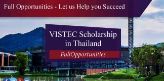 VISTEC Scholarship in Thailand