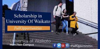 University Of Waikato Excellence Scholarship