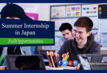 University of Tokyo Summer Internship in Japan 2020 (Fully Funded)