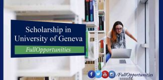 Masters Scholarships in University of Geneva