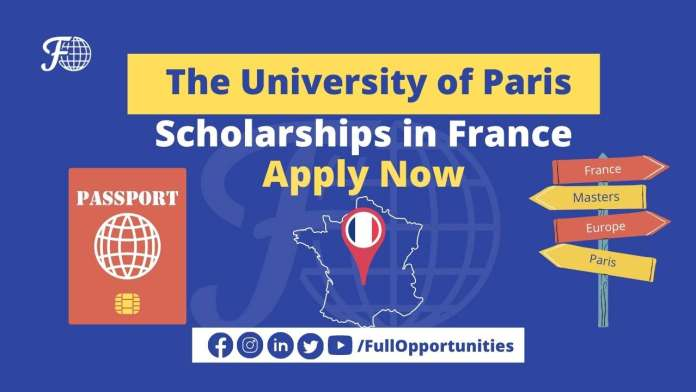 The University of Paris Scholarship 2021 - Apply Now