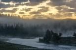 Sunrise on the firehole river