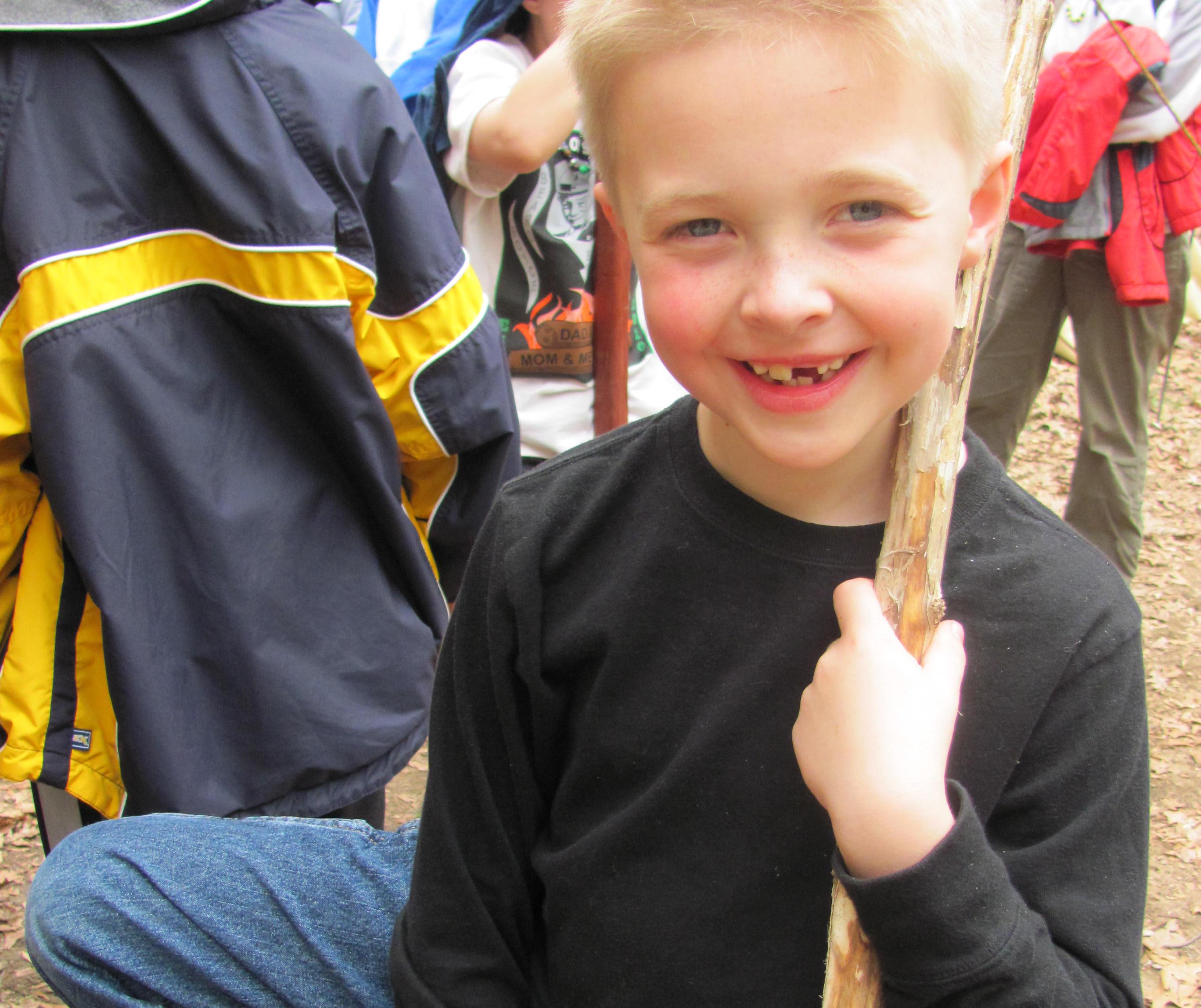 Brady At Cub Scout Camp