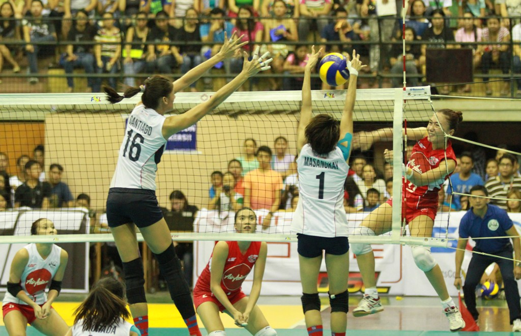 Cha Cruz was one of the major factors for Air Asia's win breaking the Petron defense with her attacks.