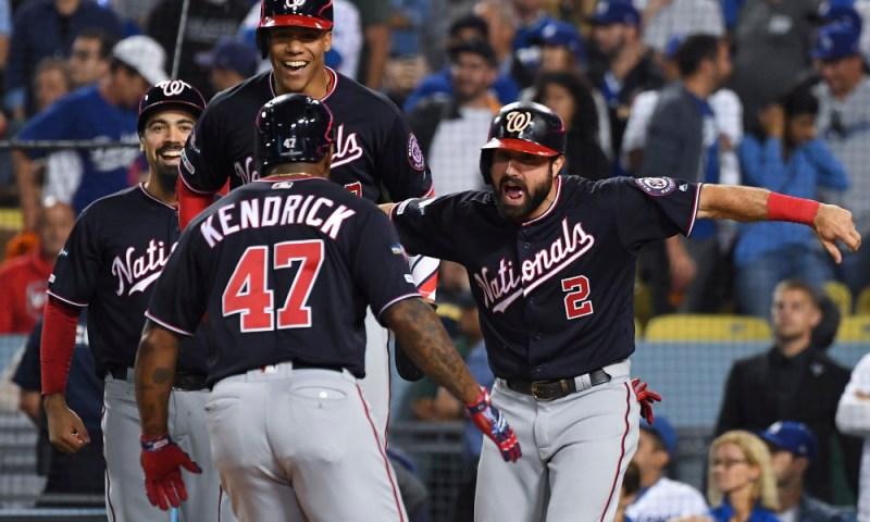 USP MLB: NLDS-WASHINGTON NATIONALS AT LOS ANGELES S BBN LAD WAS USA CA