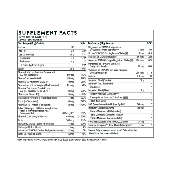 VeganPro Complex Vanilla Ingredients