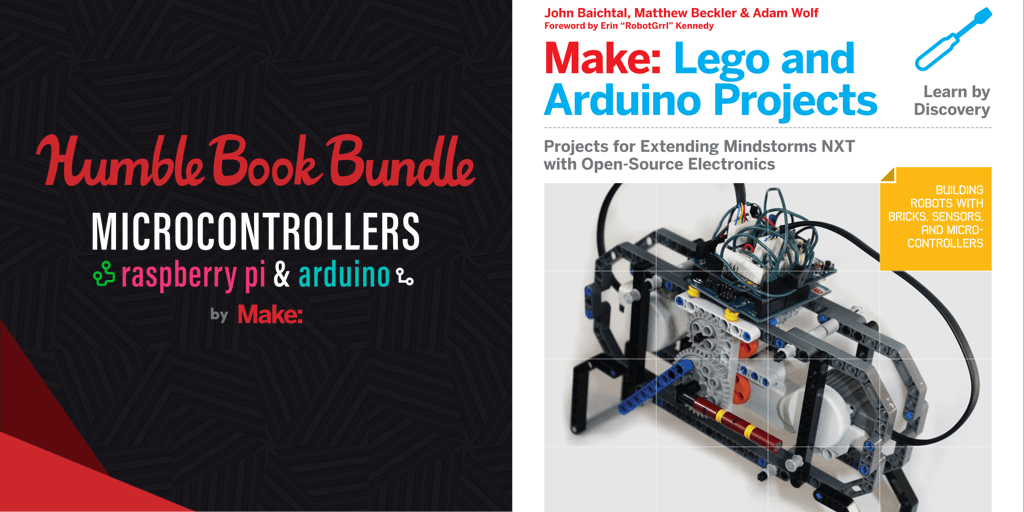 Pay what you want for The Humble Book Bundle: Microcontrollers Raspberry Pi & Arduino by Make:
