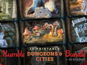 Pay what you want for The Humble 3D Printable Dungeons & Cities Bundle for 5E Fantasy!
