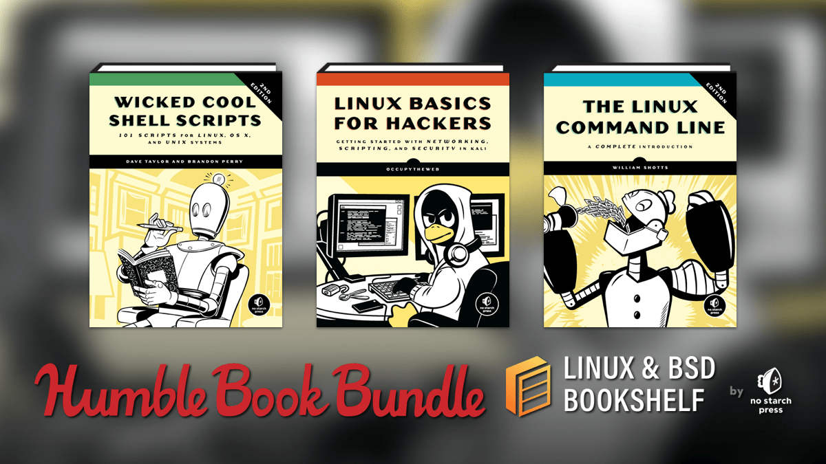 Pay what you want for The Humble Book Bundle: Linux & BSD Bookshelf by No Starch Press