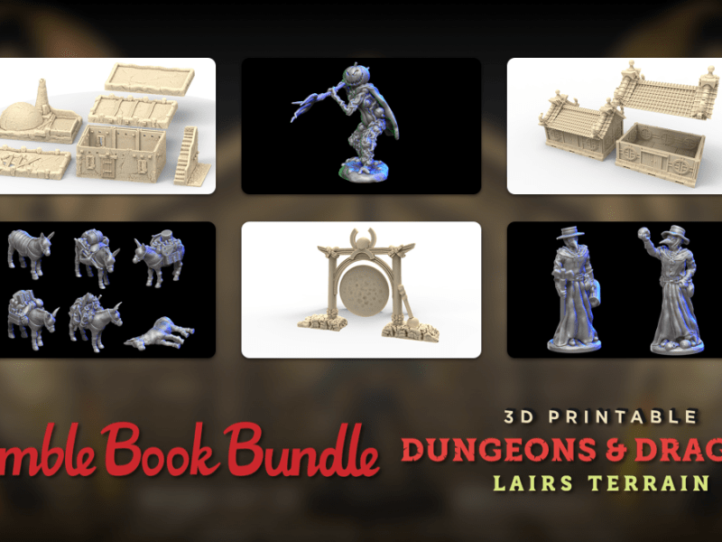 Just $1 - The Humble 3D Printable Dungeons & Dragon Lairs Terrain Bundle