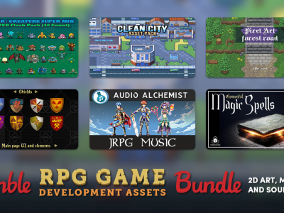 Just $1 - The Humble RPG Game Development Assets Bundle: 2D Art, Music and Sound Effects