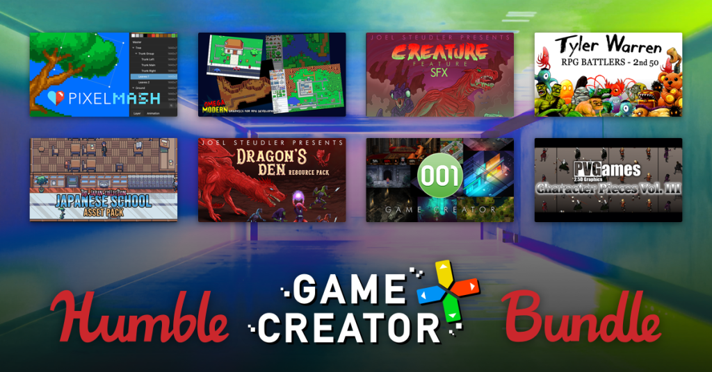 Name your own price for game creation software and asset packs to help you create the game of your dreams!