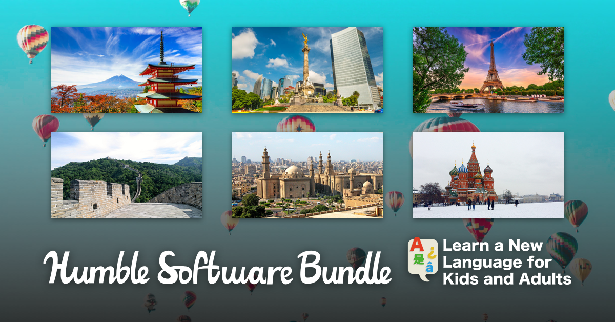 Name your own price for learning language subscriptions and ebooks for adults and kids for up to 12 languages like Japanese, Spanish, French, German, Chinese, Korean, and more!