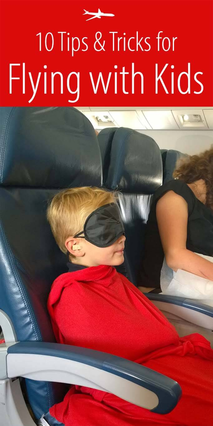 10 tips and tricks for flying with kids. Does an idea of flying with children get you anxious? Read this!