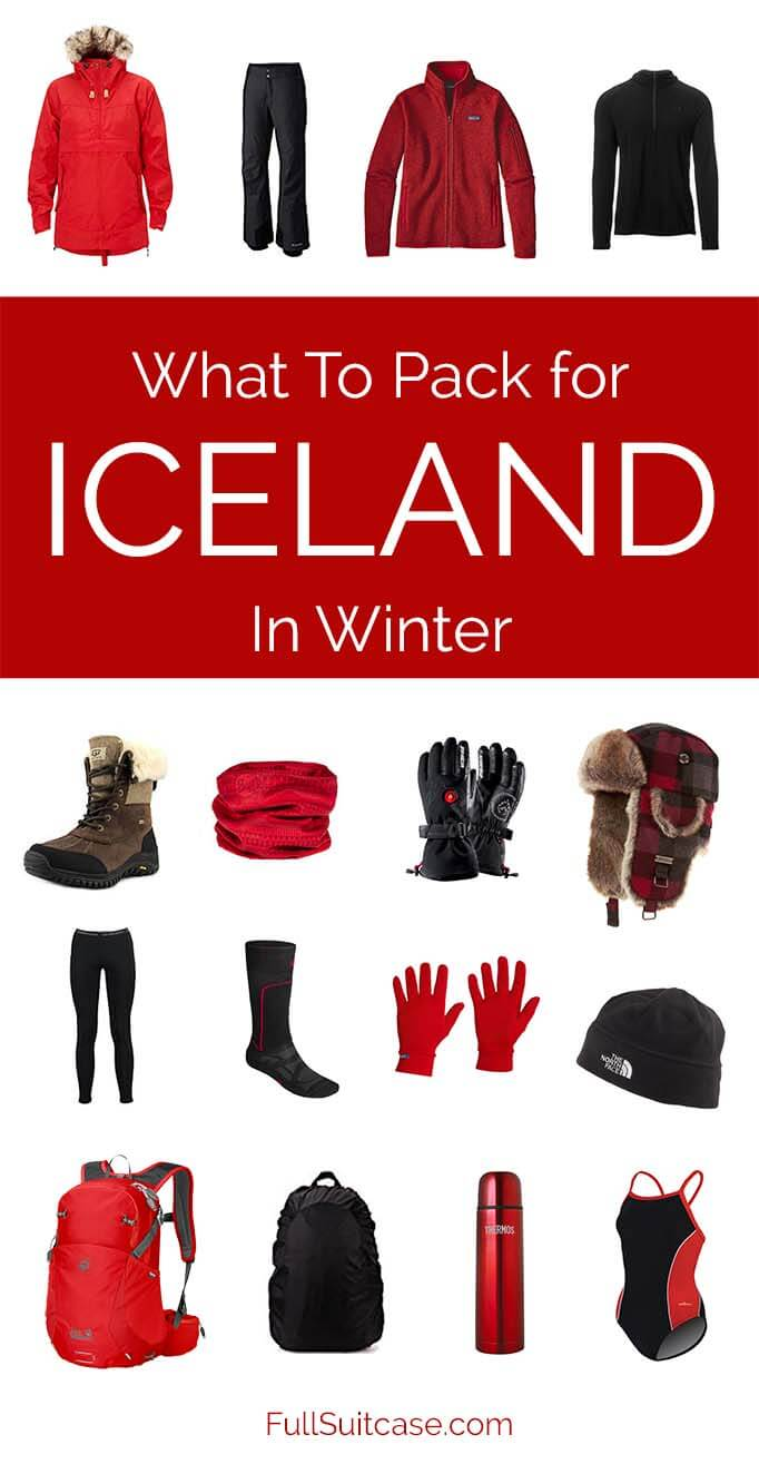 What to wear in Iceland in winter and what to pack when traveling to Iceland in cold months