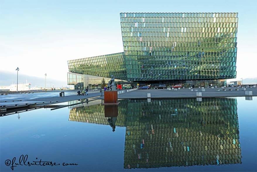 Harpa concert hall and conference centre in Reykjavík, Iceland