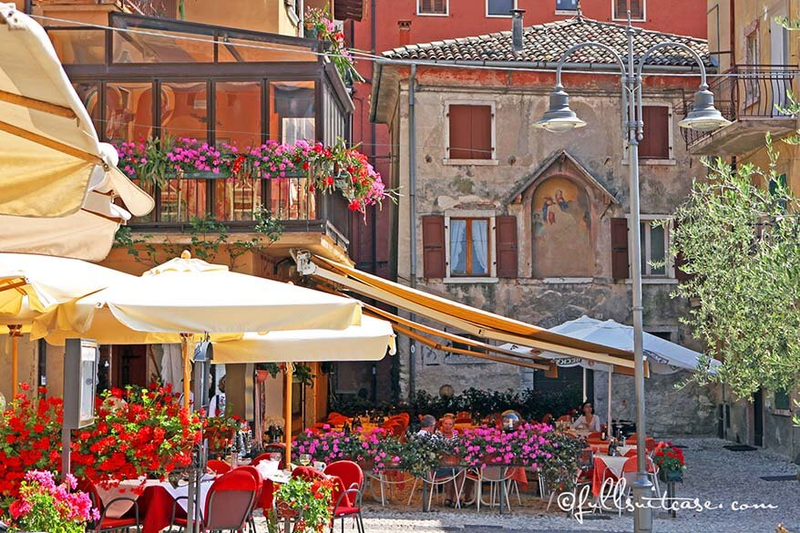 Malcesine café and old town