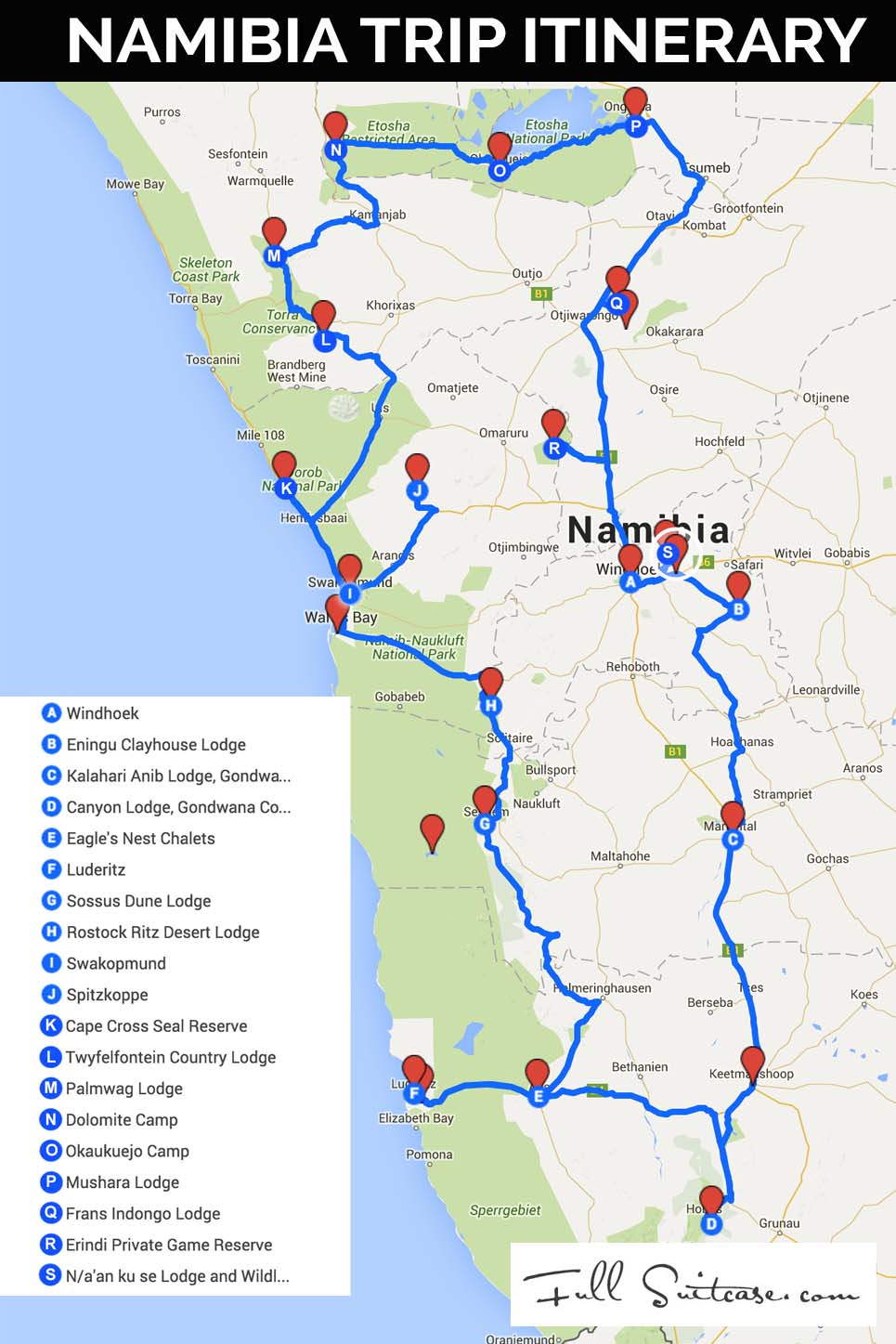 Complete Namibia Road Trip Itinerary