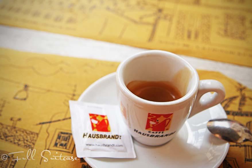 Italian espresso coffee in Rome