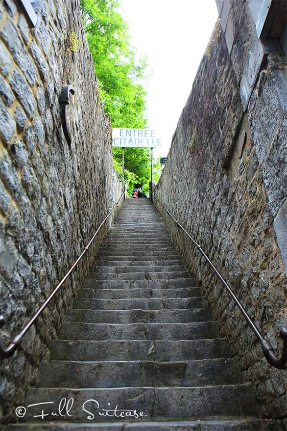 Staircase leading to the Citadel of Dinant