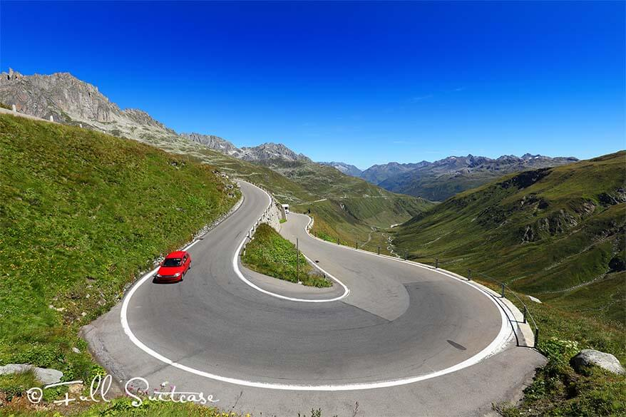 Furka pass in Switzerland