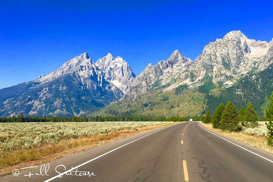Scenic Road in Grand Teton National Park
