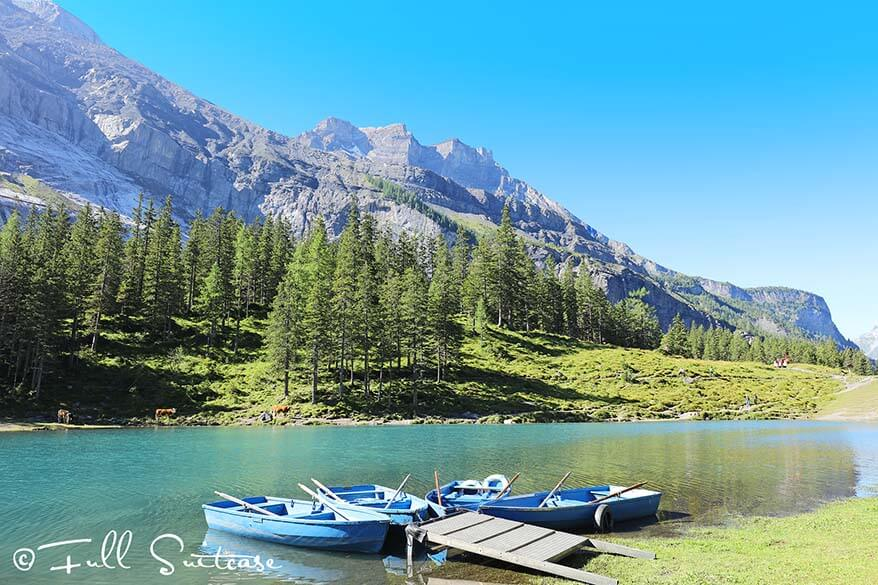 Boats for rent at Oeschinensee