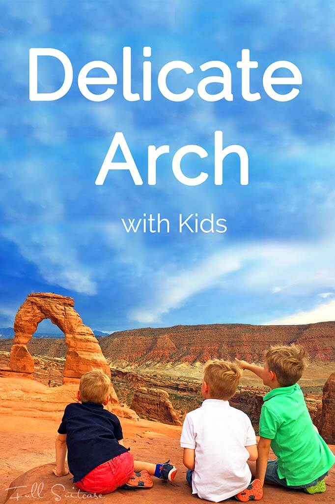 Hiking the most beautiful trail of Arches National Park, Delicate Arch with kids