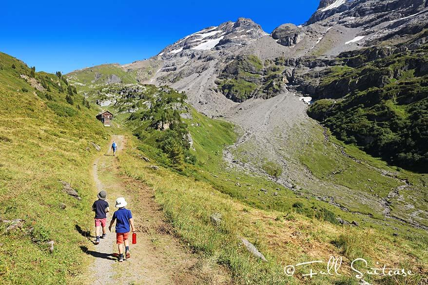 Four Lakes hike with kids - Engelberg Switzerland