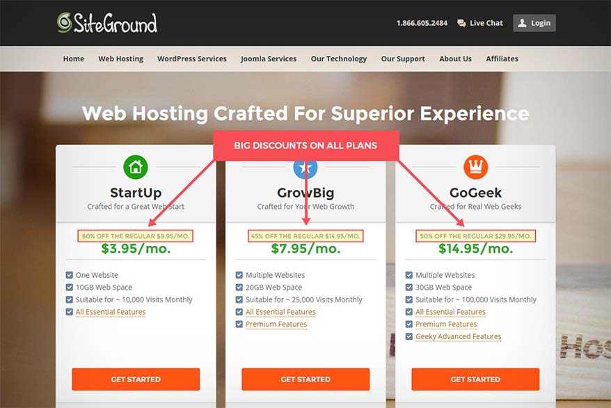 How to sign up for website hosting with SiteGround