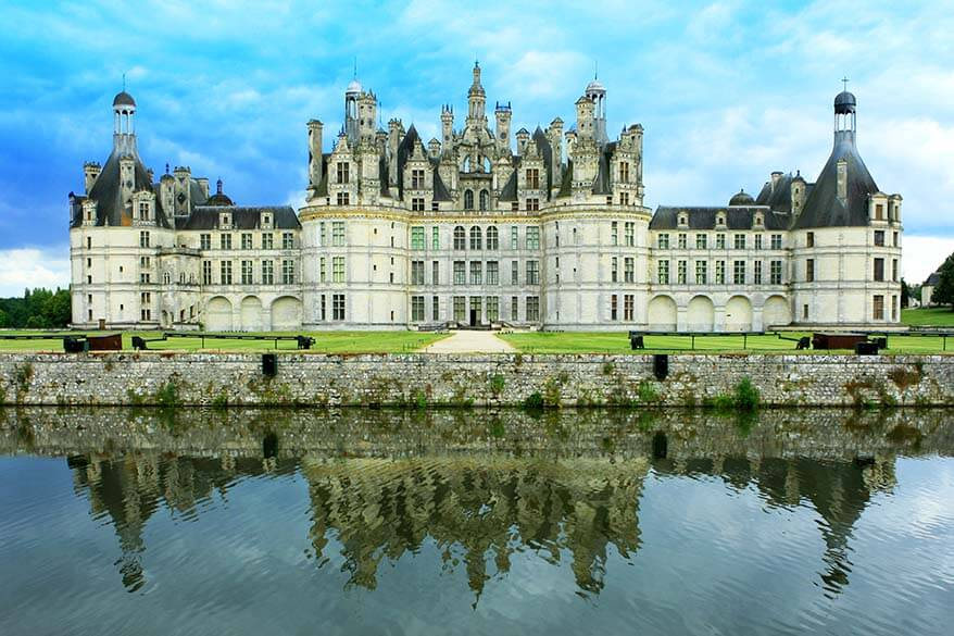 Chambord Castle in the Loire Valley in France