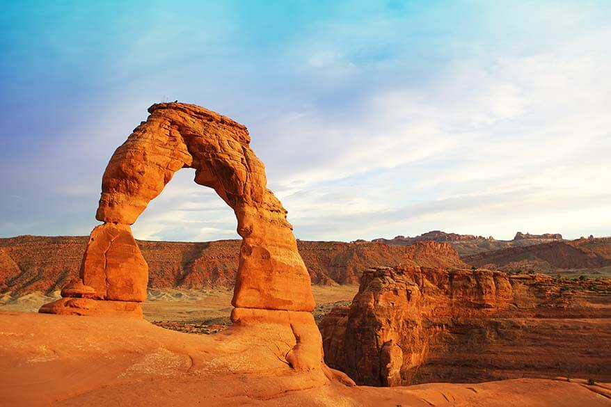 Delicate Arch in Arches National Park in Utah USA
