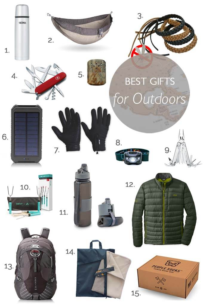 Gift ideas for travel and outdoor enthusiasts. Hiking, trekking or camping lovers will love these presents!