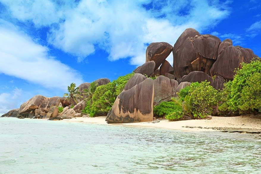 La Digue Island in the Seychelles
