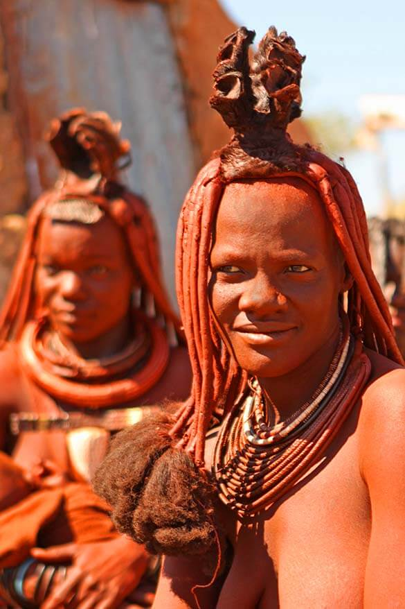 The hair style of Himba women depends on their social status