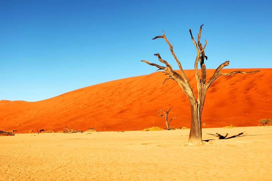 Sossusvlei is the most popular tourist destination in Namibia