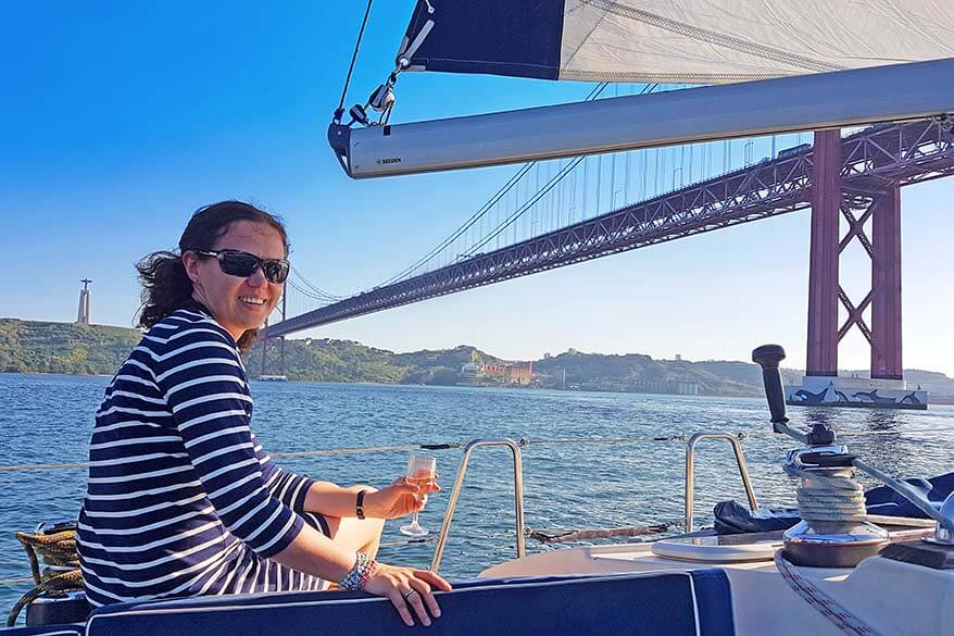 Lisbon sailing cruise on Tagus river with Marlin Tours