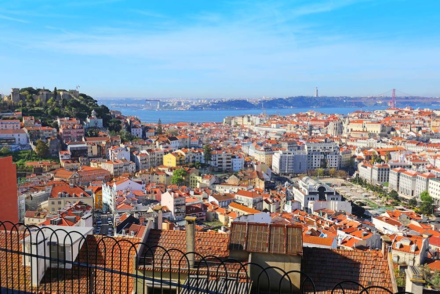 Miradouro da Senhora do Monte viewpoint in Lisbon